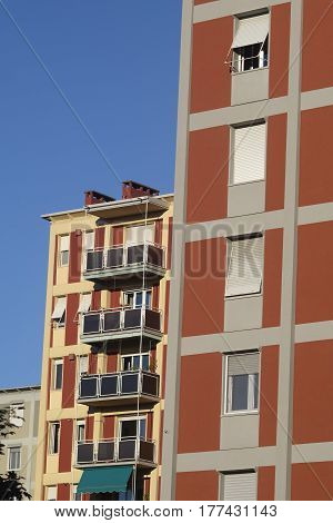 Milan (Lombardy Italy): residential buildings near Citylife (Tre Torri) and the Portello area