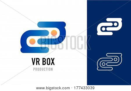 Vector logotype concept for business, creative, social, media or IT company. Abstract illustration about communication and interaction.