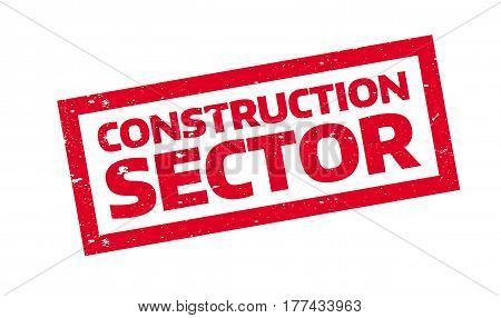 Construction Sector rubber stamp. Grunge design with dust scratches. Effects can be easily removed for a clean, crisp look. Color is easily changed.