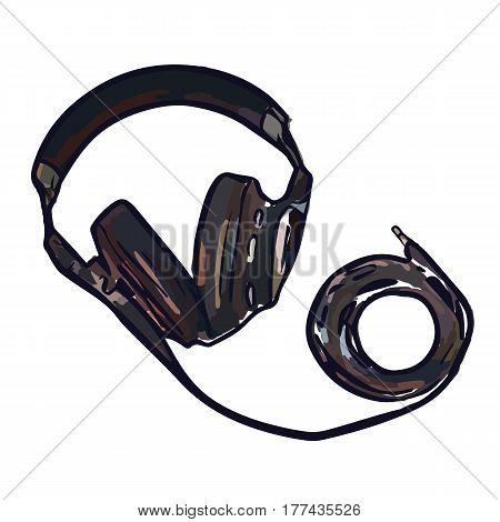 full size monitor headphones with long wire great sound