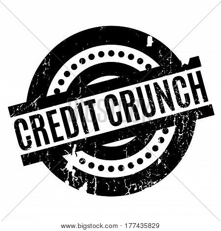 Credit Crunch rubber stamp. Grunge design with dust scratches. Effects can be easily removed for a clean, crisp look. Color is easily changed.