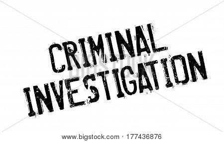 Criminal Investigation rubber stamp. Grunge design with dust scratches. Effects can be easily removed for a clean, crisp look. Color is easily changed.
