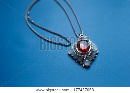 Pendant With A Red Ruby,