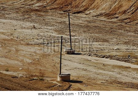 Garbage On The City Landfill. Soil Pollution. Environmental Protection. Extraction Of Bio-gas. Quarr