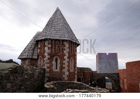 ZAGREB, CROATIA - OCTOBER 18: Chapel of St. Philip, Medvedgrad castle in Nature Park Medvednica in Zagreb, Croatia on October 18, 2015.