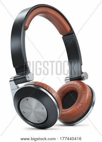 Modern Black Brown Wireless Headphones