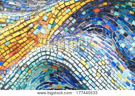 Texture Mosaic Tiles  Colorful Wave Background