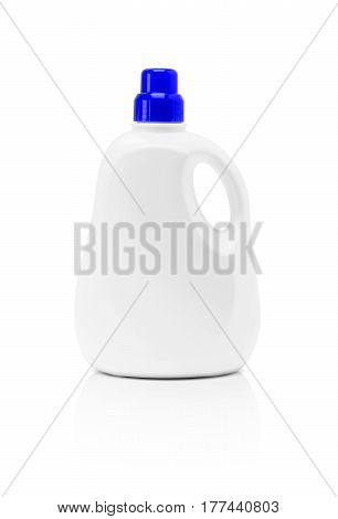 blank packaging detergent plastic bottle isolated on white background with clipping path