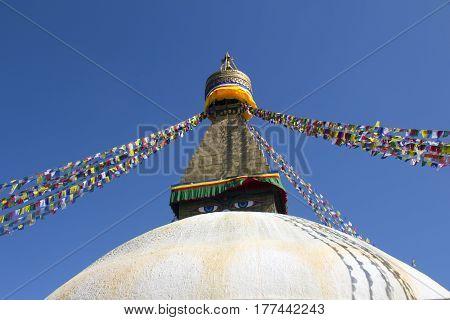 Stupa of the Buddhist religious temple in Kathmandu