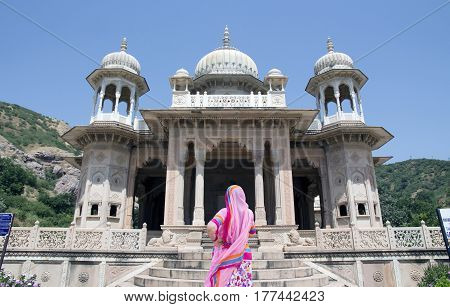 Building of religious architecture of Indian culture