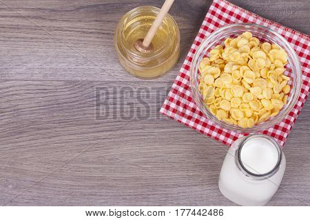 Healthy And Tasty Food On A Wooden Background