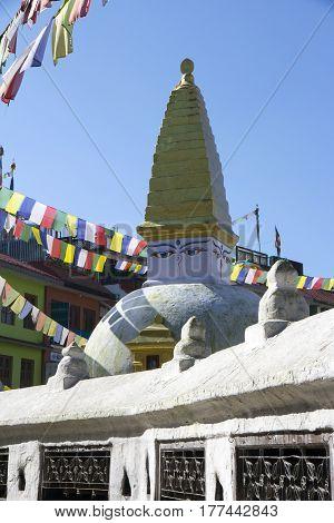 Bhudism stupa on kathmandu durbar square of Nepal