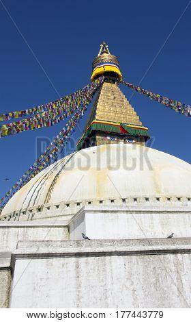 Stupa of Buddhist religious temple in Kathmandu