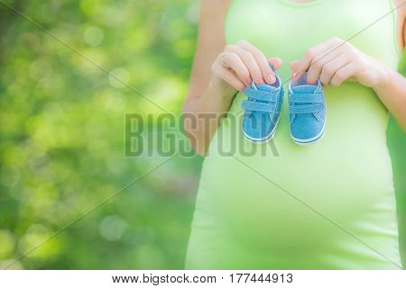 Beautiful Belly Of Young Pregnant Woman
