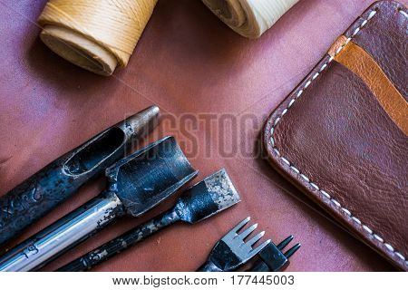 Genuine Leather With Craftsmanship Tool For Make Wallet