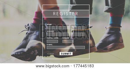Account Login Register Form Interface
