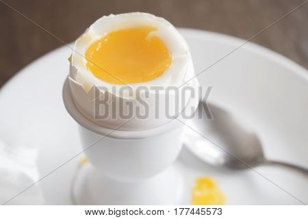 5 minute boiled egg in egg cup