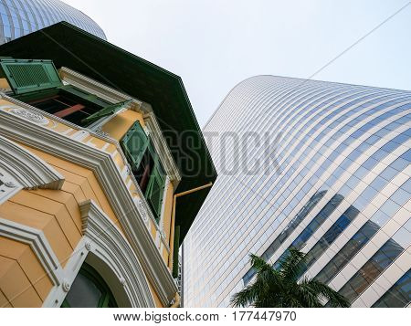 Skyscrapers at Sathorn district in Bangkok, Thailand