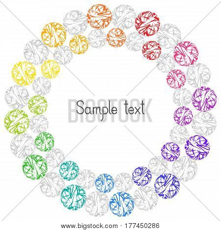 Decorative Colorful Element Circular Frame for Text. Abstract Design for Universal Application.