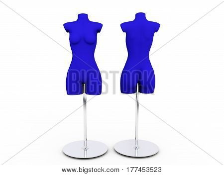 realistic 3d render of shop dummy Tailor, Dressmaker, Couture, Seamstress