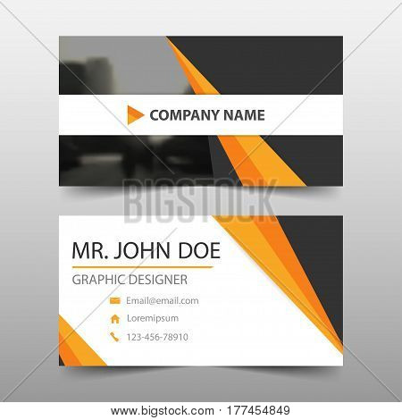 Orange black corporate business card name card template horizontal simple clean layout design template Business banner template for website