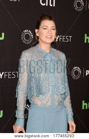LOS ANGELES - MAR 19:  Ellen Pompeo at the 34th Annual PaleyFest Los Angeles -