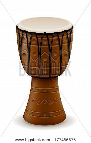 african drum musical instruments stock vector illustration isolated on white background