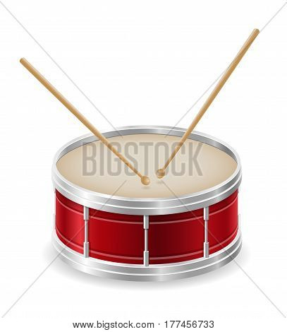 drum musical instruments stock vector illustration isolated on white background