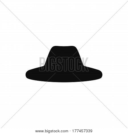 Retro hats silhouette. Top hat isolated on white. Vector illustration eps10