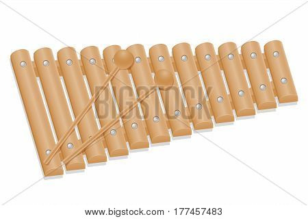 xylophone musical instruments stock vector illustration isolated on white background