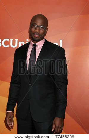 LOS ANGELES - MAR 20:  Akbar Gbajabiamila at the NBCUniversal Summer Press Day at Beverly Hilton Hotel on March 20, 2017 in Beverly Hills, CA