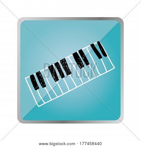 symbol piano instrument icon, vector illustration design