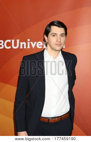 LOS ANGELES - MAR 20:  Nick D'Agosto at the NBCUniversal Summer Press Day at Beverly Hilton Hotel on March 20, 2017 in Beverly Hills, CA