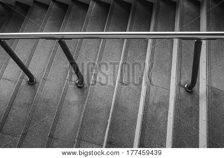 Monotone color, staircase at the skytrain station.