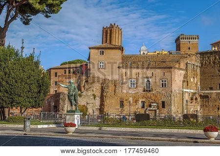 The Forum of Augustus is one of the Imperial forums of Rome Italy built by Augustus. It includes the Temple of Mars Ultor.