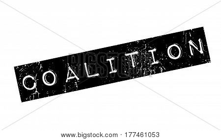 Coalition rubber stamp. Grunge design with dust scratches. Effects can be easily removed for a clean, crisp look. Color is easily changed.