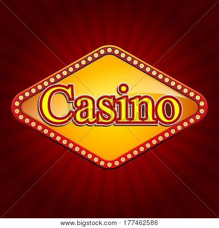 Casino banner. Casino online, slot machine games banner. Vector stock.