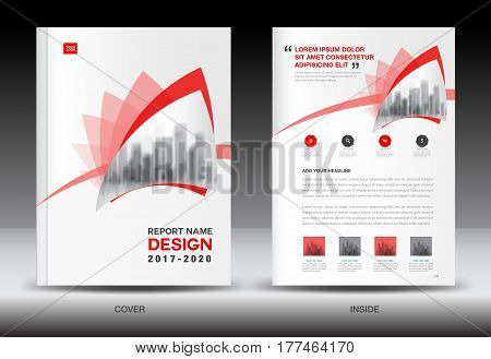 Annual report brochure flyer template Red cover design business book booklet newspaper catalog advertisement company profile