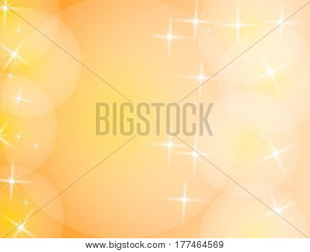 Abstract Sparkling Stars Holiday Background bokeh effect with space for your text. Vector Illustration.