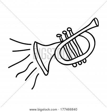 musical trumpet instrument icon, vector illustration design