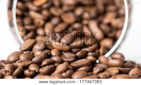 Grains Of Coffee Aroma And Invigorating Drink