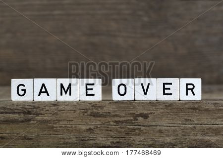 Game Over, Written In Cubes