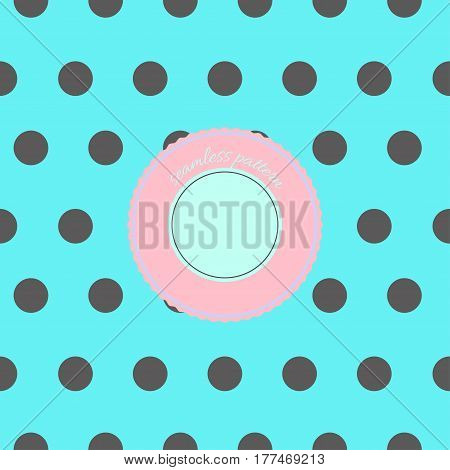 seamless pattern background with dots in cute colour