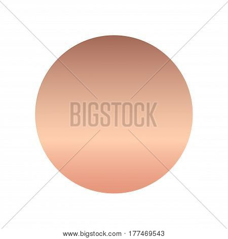 Rose gold gradient, can be used for fashion design. Vector illustration.