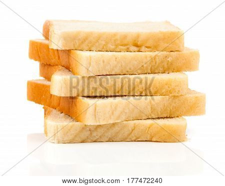 fresh Toaster bread isolated on white background