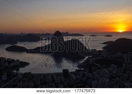 Sunrise Morro Dona Marta, Rio De Janeiro, Brazil
