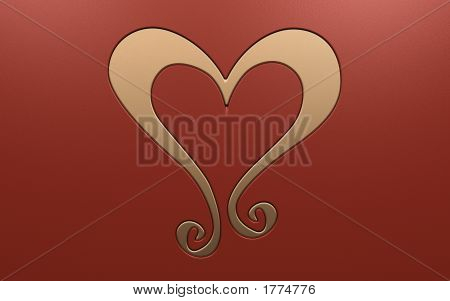 Luxurious Gold Heart Decoration