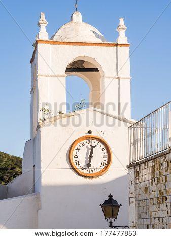 Clock tower in Mertola, Alentejo region, Portugal.
