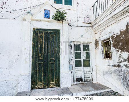MARTOLA PORTUGAL - MARCH 02 2017: Typical architecture in Mertola Portugal.