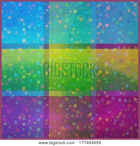 Abstract Seamless Background with Colorful Geometrical Squares. Eps10, Contains Transparencies. Vector